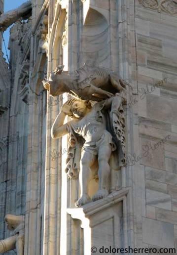 Gárgola de la Catedral de Milán (Italia)