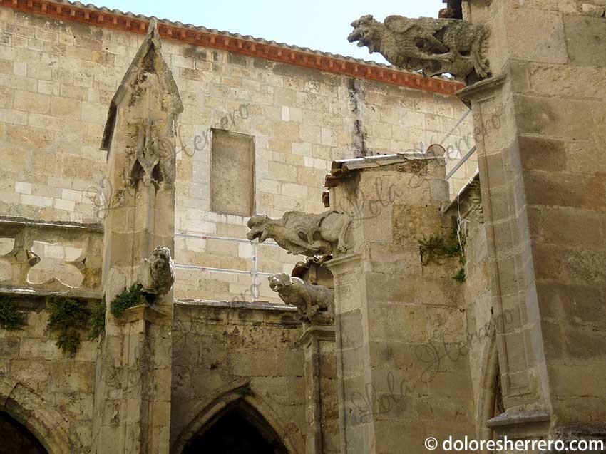 Las gárgolas y sus pequeños acompañantes. El Claustro de la Catedral de Narbonne