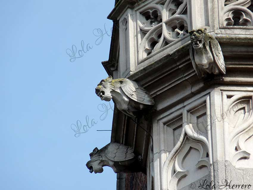 The Gargoyles on the Provincial Palace in Bruges