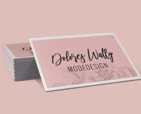 Dolores Wally Modedesign Visitenkarten