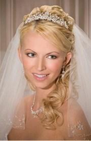 peinados para novias velo