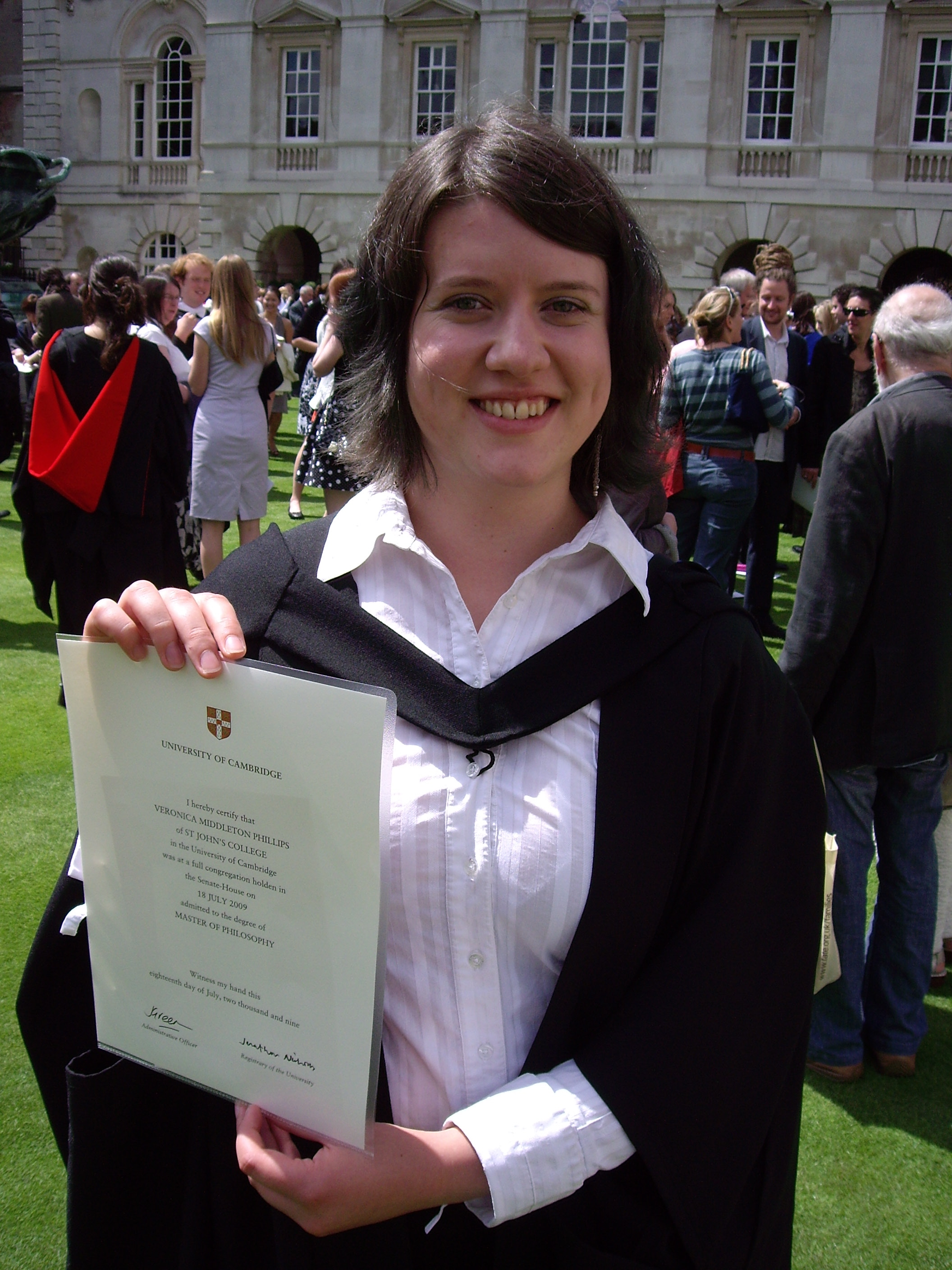 Me with my snazzy Cambridge degree.