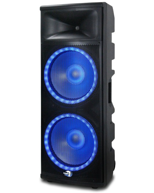 Professional DJ speaker with blue light