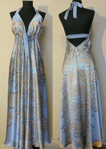 Голубое платье от Пестова