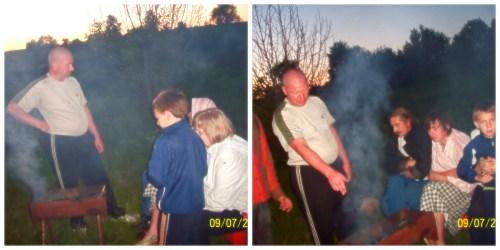 Коллаж вечер-шашлыки