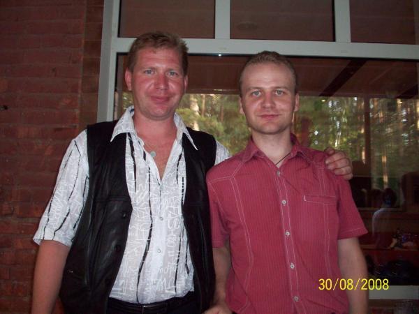 Серёжа с братом Андреем