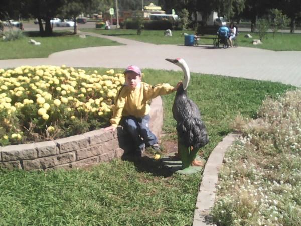 Егор с птицей