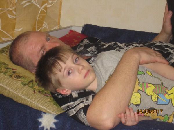 Папа с Егорушкой