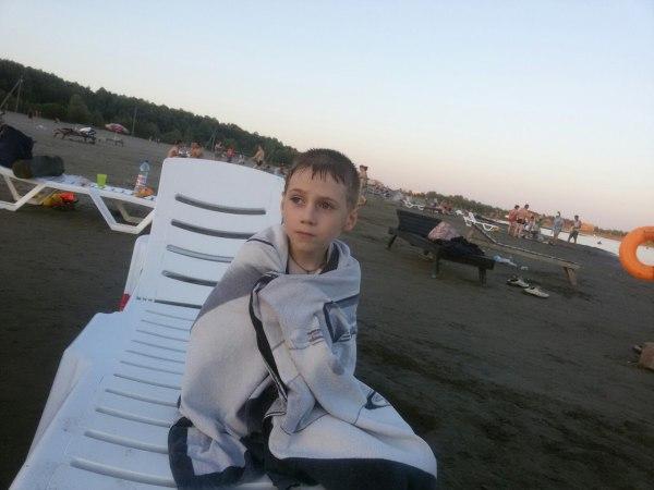 Егор на пляже
