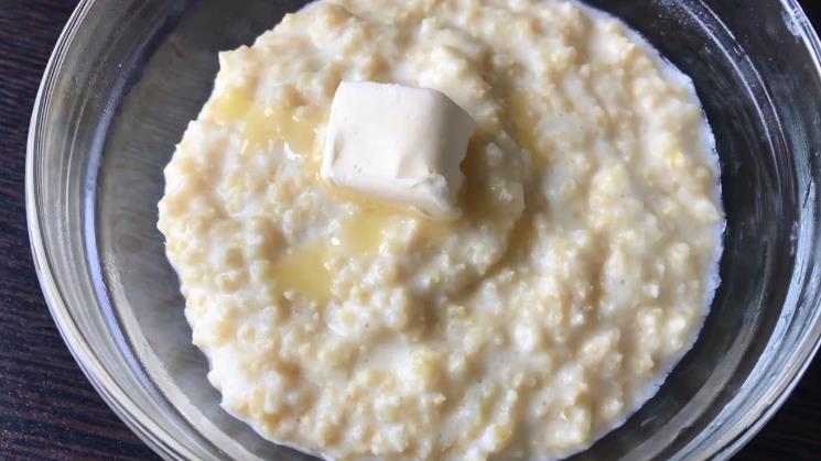 Пшенная каша на молоке в микроволновке — простой рецепт