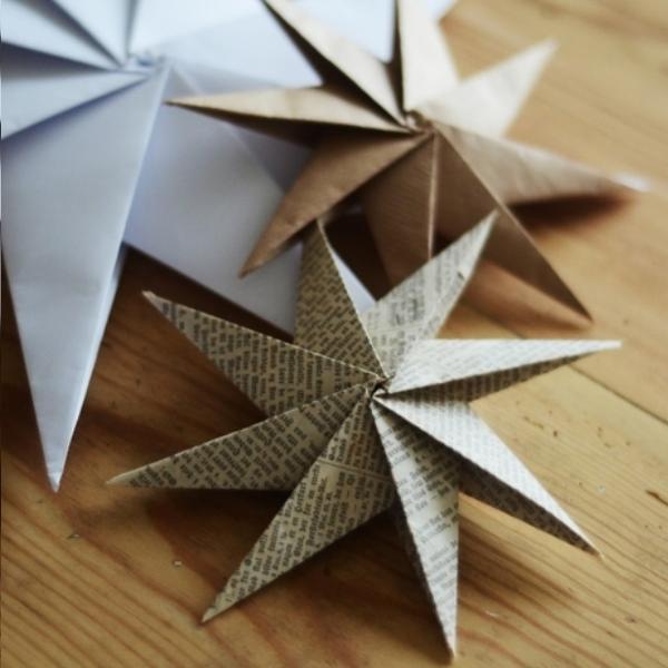 Como fazer uma estrela na árvore de Natal com suas próprias mãos