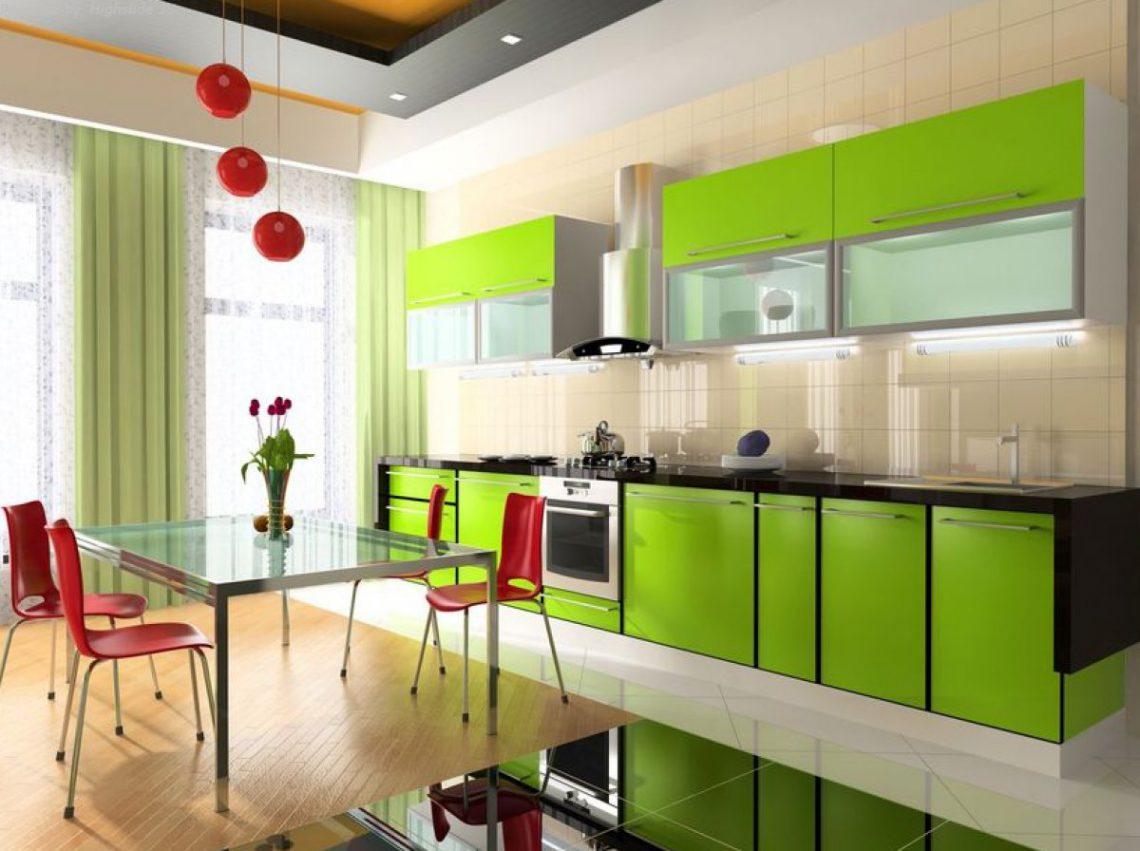 Zielona Kuchnia Wygodne Połączenie Dla Wyjątkowego