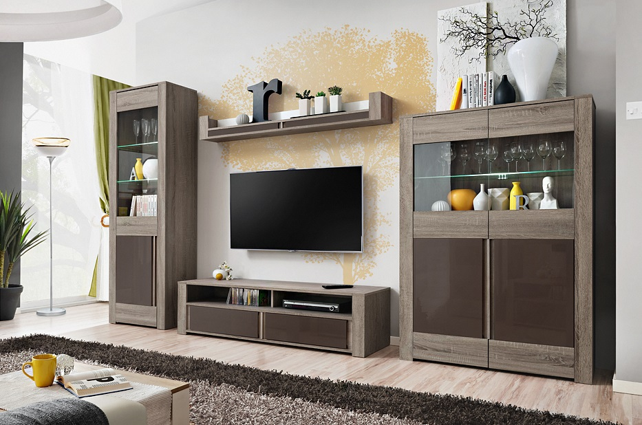 entertainment units living room north shore dallas truffle oak modern wall unit details about center
