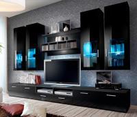 Presto 5 - black modern entertainment center for 65 inch ...