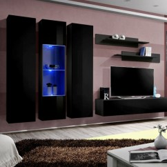 Entertainment Units Living Room Red And Grey Rugs Idea C4 Center Cabinet Wall Unit Details About Modern Tv Stand