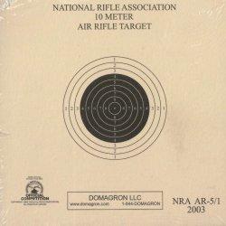 AR-5/1 - 10 Meter (33ft.) Air Rifle Single Bulleye Official NRA Target (Pack of 100)
