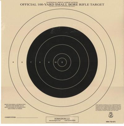 TQ-4 - 100 Yard Small Bore Rifle Competition NRA Target