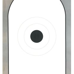 AP-1 Bianchi Cup Action Pistol with Black Center Official NRA Target on Tagboard (Pack of 50)