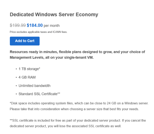 The cheapest window servers