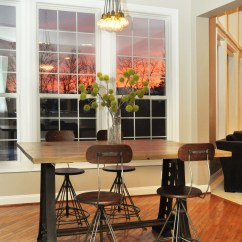 Industrial Kitchen Table Install Island Vintage Dining Room Talentneeds