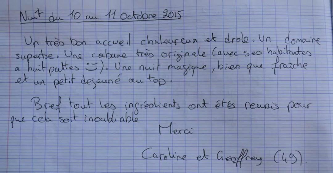 Domaine des Vaulx - nuit du 11 au 11 octobre 2015
