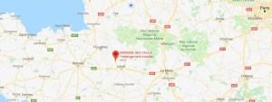 Situation des cabanes dans les arbres par rapport à Paris