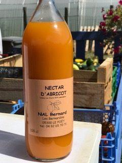 Bouteille de Nectar d'abricot bio