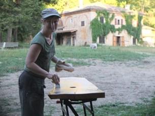 Véronique Oak Bench