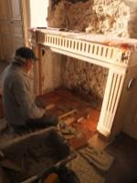 France castle fireplace restoration