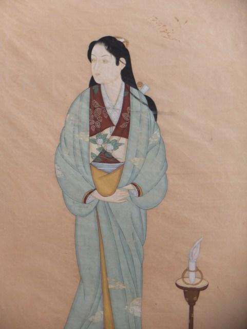 Antique water colour geisha