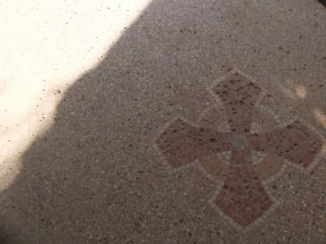 Castle hallway cross