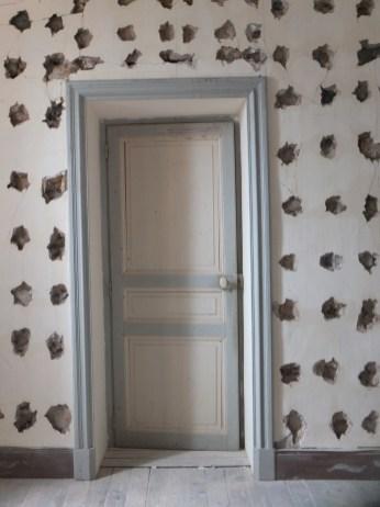 Holes around Door Yoga Room