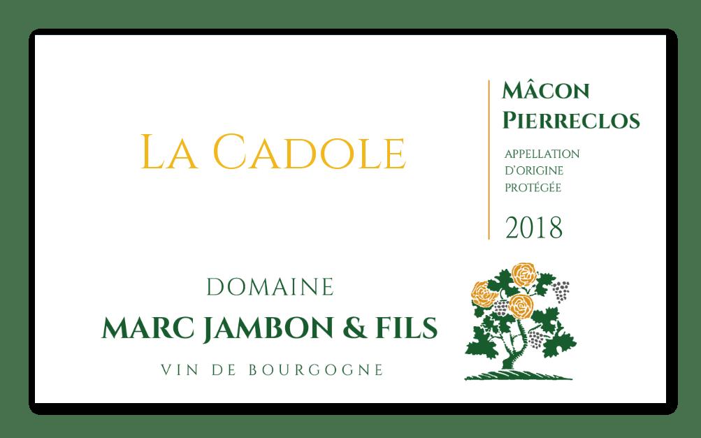 """Mâcon-Pierreclos Blanc """"La Cadole"""" - Domaine Marc JAMBON et Fils à PIERRECLOS"""