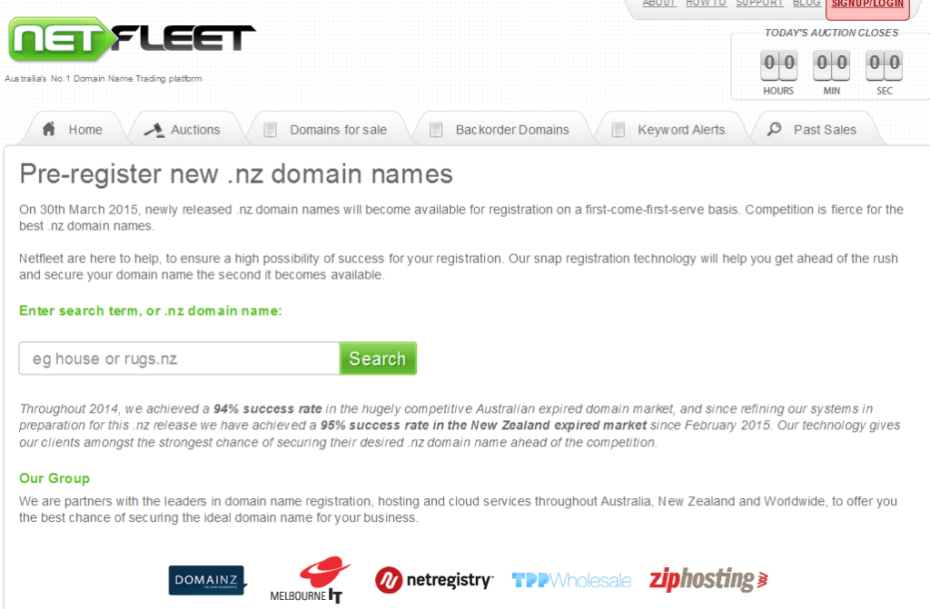 Netfleet NZ Domains