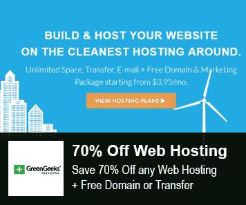 Greengeeks Coupon 70% Off Web Hosting