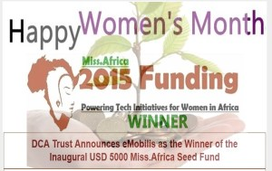3 African initiatives win 7000USD from the 2015 Miss.Africa Seed Fund