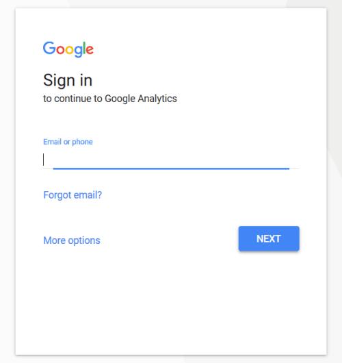 Google Analytics - Sign Up