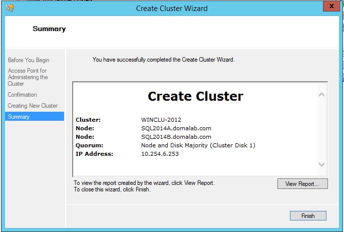 domalab.com install clustered SQL summary