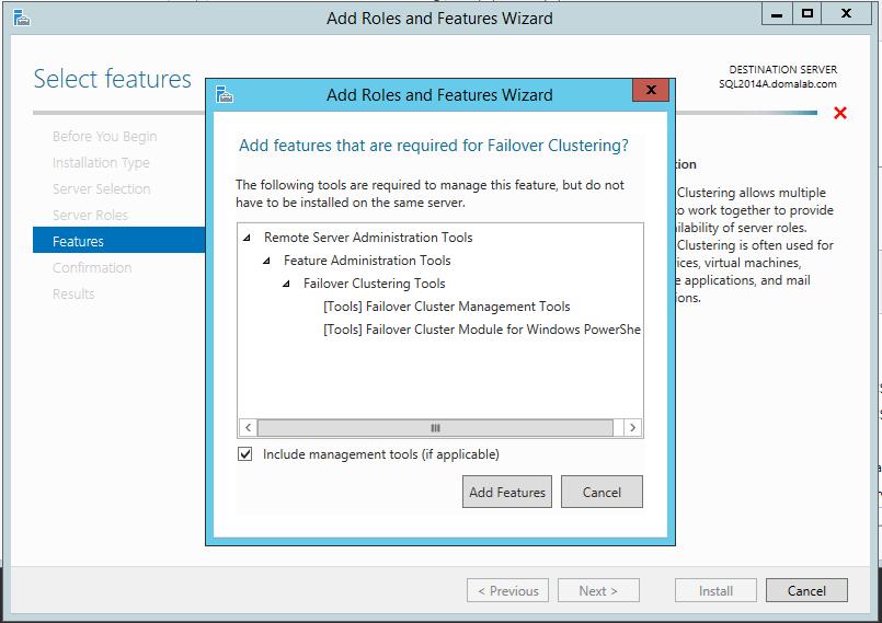 domalab.com install clustered SQL WFCS tools