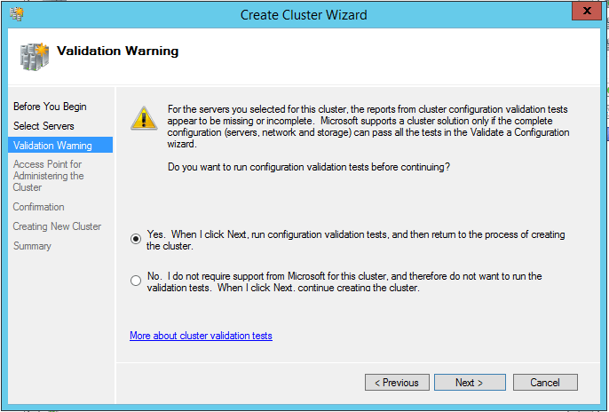 domalab.com install clustered SQL validation