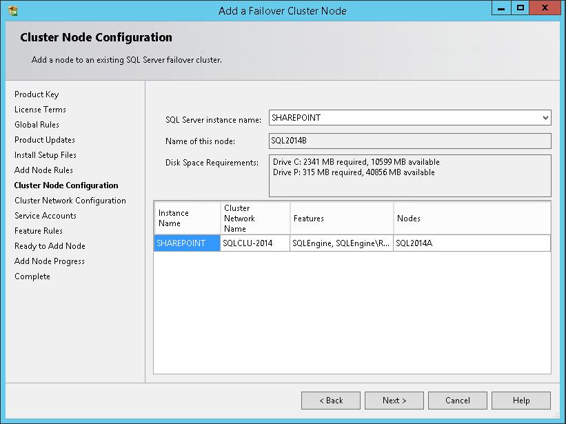domalab.com SQL second node cluster node configuration