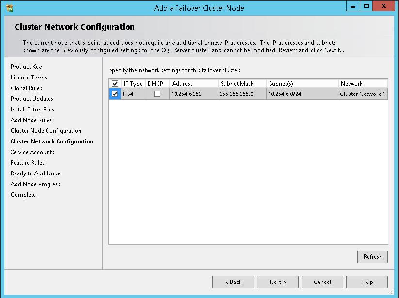 domalab.com SQL second node cluster network configuration