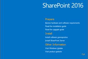 SharePoint 2016 installation