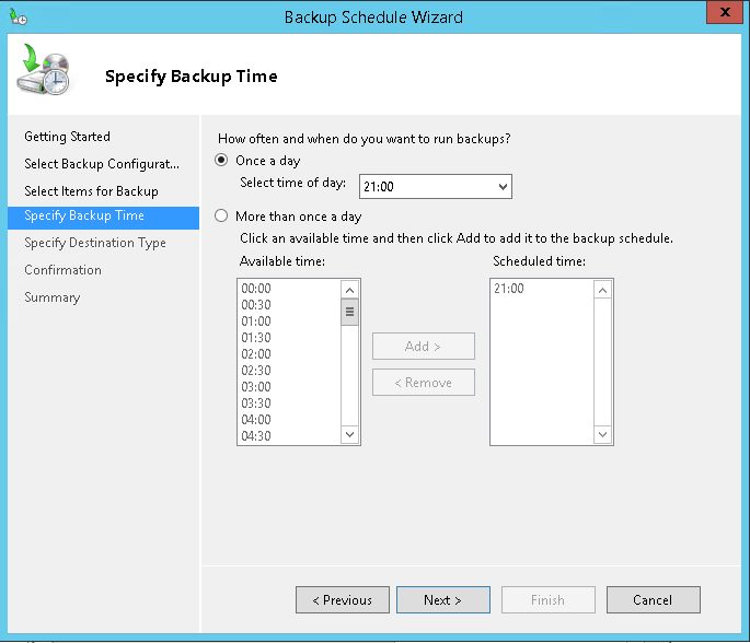 domalab.com Exchange 2016 Backup time