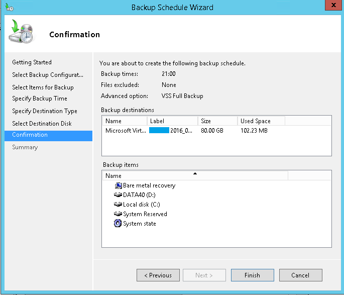 domalab.com Exchange 2016 Backup wdadmin confirmation