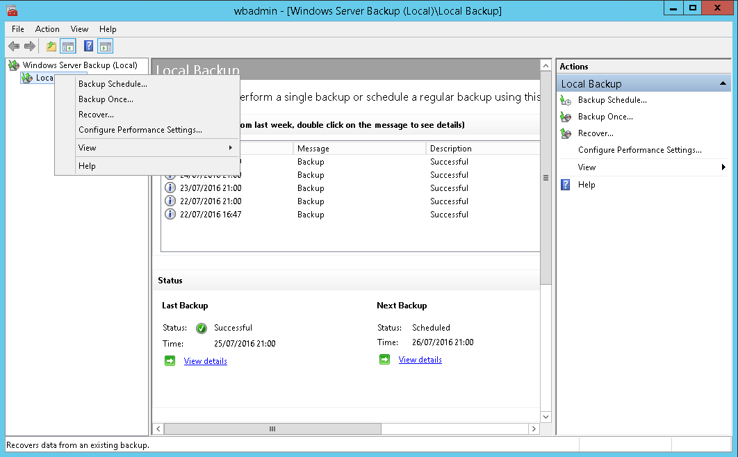 domalab.com Exchange 2016 Mailbox Database Restore wbadmin