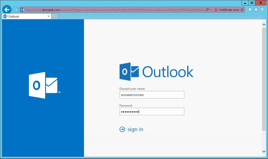 domalab.com Exchange 2016 Public Folders owa login