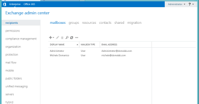 Exchange 2016 Mail setup