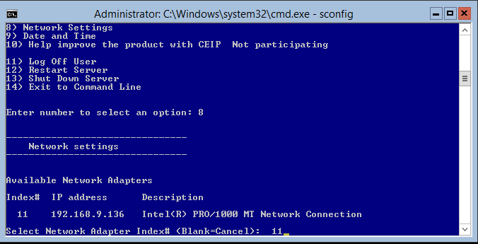 domalab.com Hyper-V nested install select network card