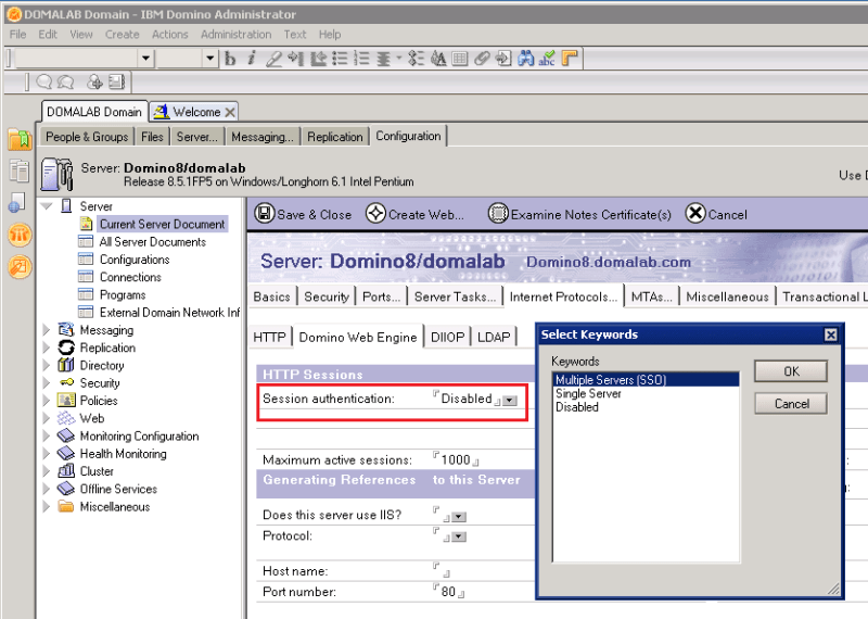 domalab.com Quickr Domino Multiple SSO Servers